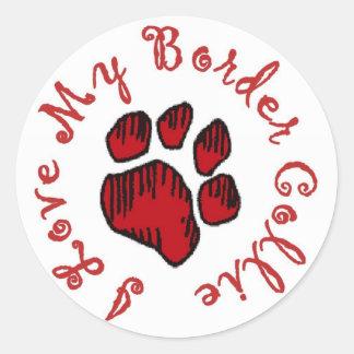 I Love My Border Collie!!~Stickers Classic Round Sticker