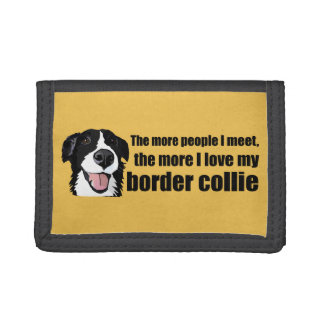 I love my border collie trifold wallet