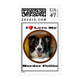 I love my border collies postage stamps and cards