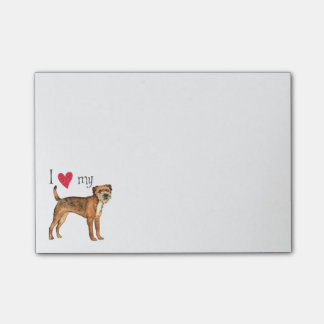 I Love my Border Terrier Post-it Notes
