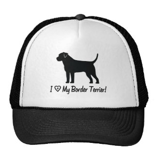 I Love My Border Terrier with Paw Prints Trucker Hat