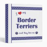 I Love My Border Terriers (Multiple Dogs) Vinyl Binder