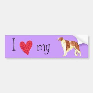 I Love my Borzoi Car Bumper Sticker