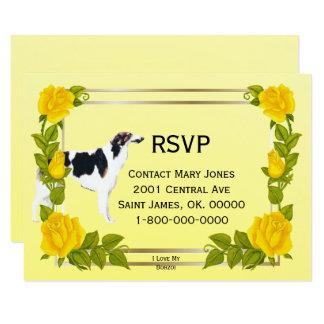 I Love My Borzoi, Yellow Roses, RSVP Card