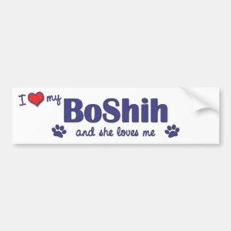 I Love My BoShih (Female Dog) Car Bumper Sticker