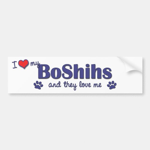 I Love My BoShihs (Multiple Dogs) Bumper Stickers