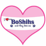 I Love My BoShihs (Multiple Dogs) Cut Outs