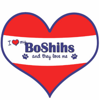 I Love My BoShihs (Multiple Dogs) Cutout