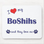 I Love My BoShihs (Multiple Dogs) Mouse Pads