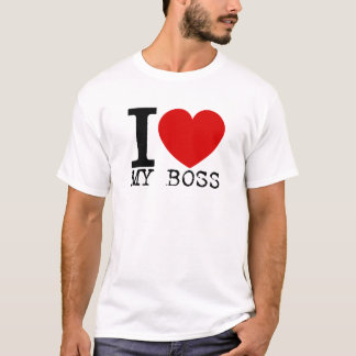 I Love My Boss (Black) T-Shirt