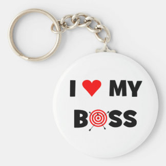 I love my boss keychain