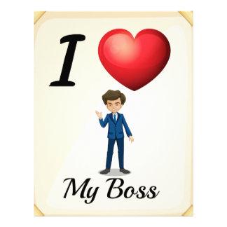 I love my boss letterhead