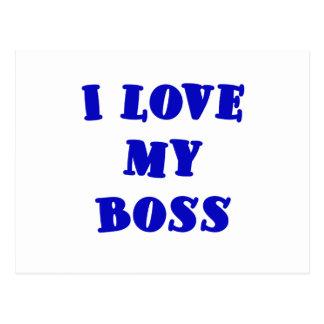 I Love My Boss Post Card