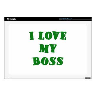 I Love my Boss Laptop Skin