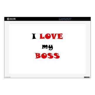"I Love my Boss 17"" Laptop Decals"