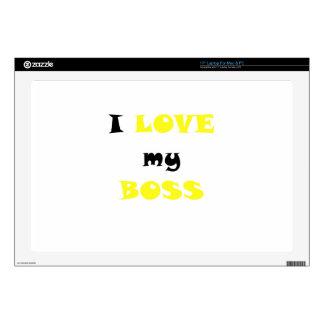 I Love my Boss Skin For Laptop