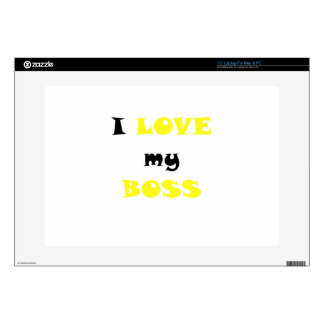 """I Love my Boss Decal For 15"""" Laptop"""