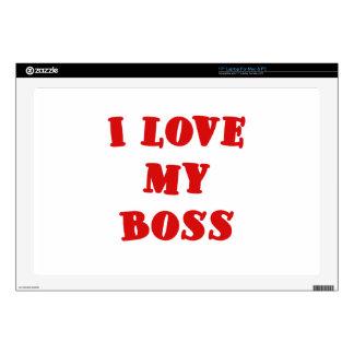 I Love My Boss Skins For Laptops