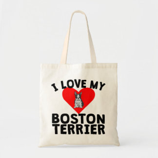 I Love My Boston Terrier Budget Tote Bag