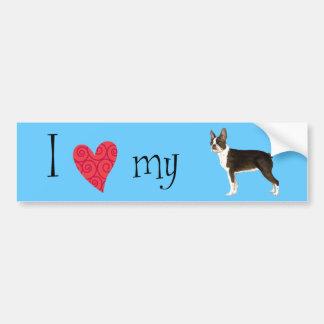 I Love my Boston Terrier Bumper Stickers