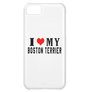 I Love My Boston Terrier Cover For iPhone 5C
