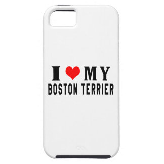 I Love My Boston Terrier iPhone 5 Cover
