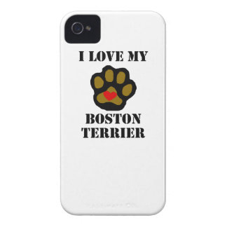 I Love My Boston Terrier iPhone 4 Case-Mate Cases