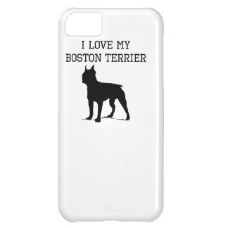 I Love My Boston Terrier Case For iPhone 5C