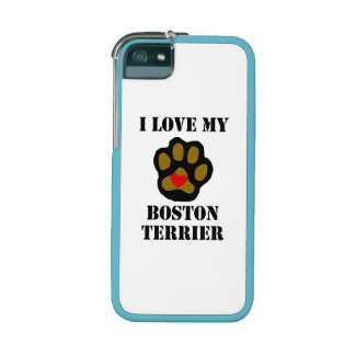 I Love My Boston Terrier Case For iPhone 5