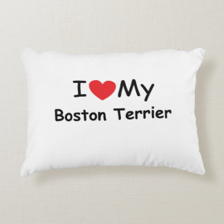 I love my Boston Terrier dog Accent Pillow