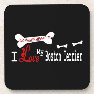 I Love My Boston Terrier Drink Coaster