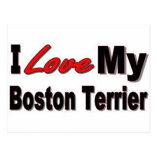 I Love My Boston Terrier Merchandise Postcard