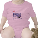 I Love My Boston Terrier Mix (Male Dog) T-shirts