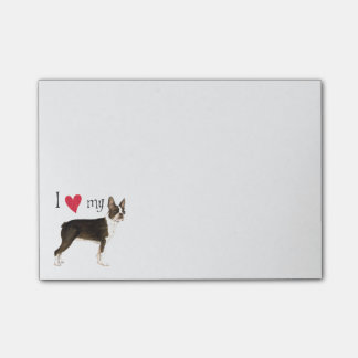 I Love my Boston Terrier Post-it® Notes