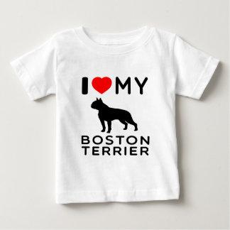 I Love My Boston Terrier. Tees