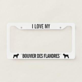 I Love My Bouvier des Flandres Custom License Plate Frame