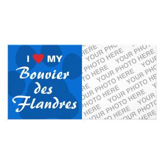 I Love My Bouvier des Flandres Picture Card