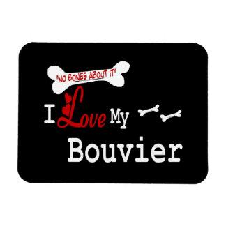 I Love My Bouvier des Flandres Rectangular Photo Magnet