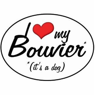 I Love My Bouvier (It's a Dog) Photo Statuette