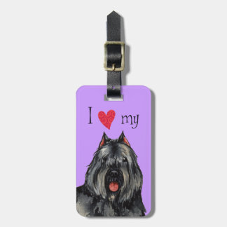 I Love my Bouvier Luggage Tags