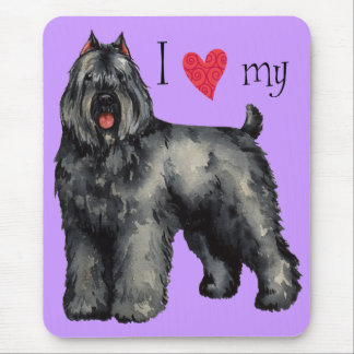 I Love my Bouvier Mouse Pad