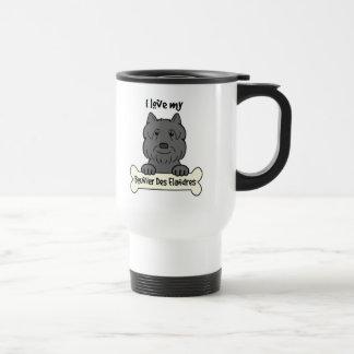 I Love My Bouvier Travel Mug