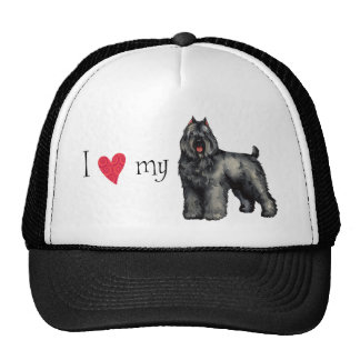 I Love my Bouvier Trucker Hat