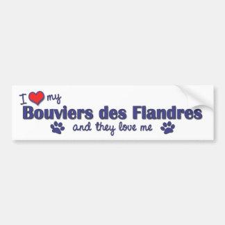I Love My Bouviers des Flandres Multiple Dogs Bumper Sticker
