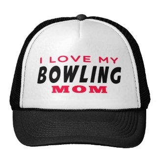 I Love My Bowling Mom Trucker Hat