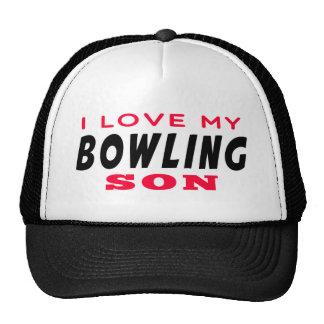 I Love My Bowling Son Trucker Hat