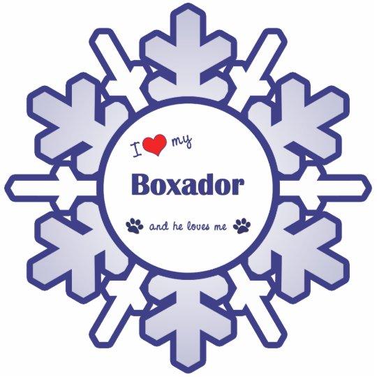 I Love My Boxador (Male Dog) Cutout