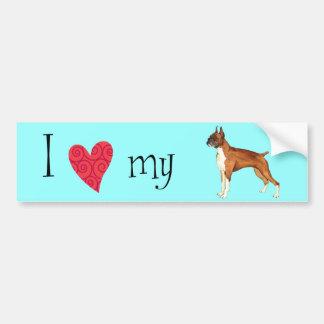 I Love my Boxer Car Bumper Sticker