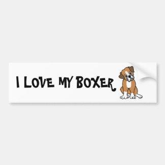 I LOVE MY BOXER BUMPER STICKER