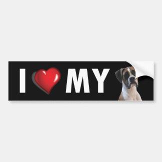 I Love My Boxer Bumper Sticker - Boxer Dog